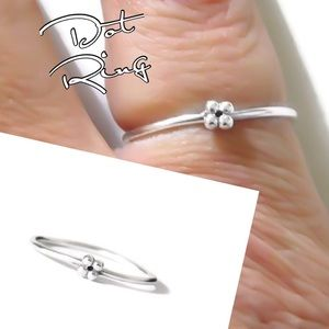 925 SS Minimalist Dot Ring